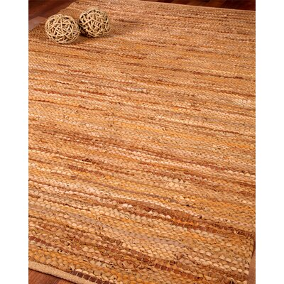 Adore Leather Hand Loomed Area Rug Rug Size: 6 x 9
