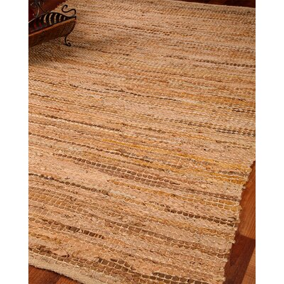 Cardinal Leather Hand Loomed Area Rug Rug Size: Rectangle 4 x 6