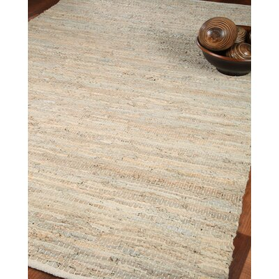 Anchor Leather Hand Loomed Area Rug Rug Size: Rectangle 4 x 6