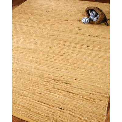 Chandra Jute Cotton All Natural Fibers Hand Loomed Area Rug Rug Size: Rectangle 5 x 8