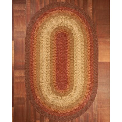 Estilo Oval 100% Natural Jute Hand Braided Area Rug Rug Size: Oval 8 x 10