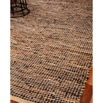 Cosmo Leather Hand Loomed Area Rug Rug Size: 4 x 6