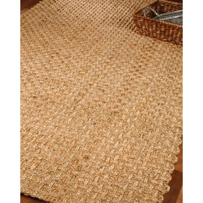 Dresden 100% Natural Jute Hand Woven Area Rug Rug Size: Rectangle 4 x 6
