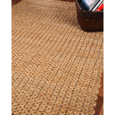 Brentwood 100% Natural Jute Hand Woven Area Rug Rug Size: Rectangle 4 x 6