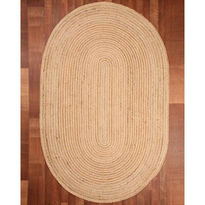 Capistrano Jute Oval All Natural Fibers Hand Braided Area Rug Rug Size: Oval 8 x 10