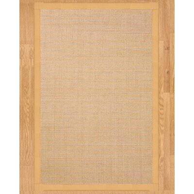 Sisal Cashmira Beige Area Rug Rug Size: Rectangle 6 x 9