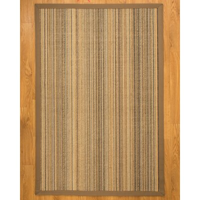 Galena Wide Canvas Border Area Rug Rug Size: Rectangle 6 x 9