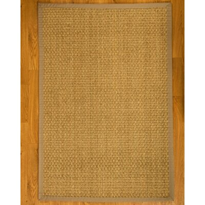 Lancaster Handcrafted Light Khaki Area Rug Rug Size: 6' x 9'