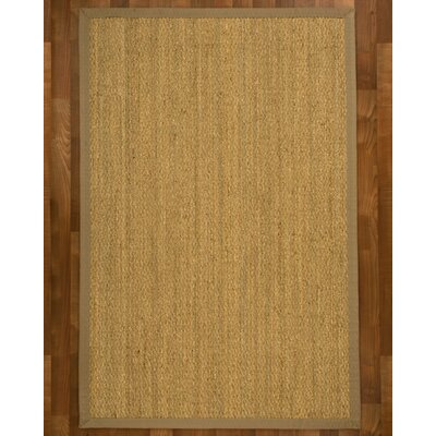Maritime Handcrafted Light Khaki Area Rug Rug Size: 4 x 6