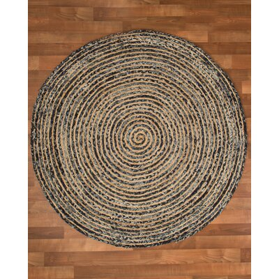 Essence Cotton Natural Area Rug Rug Size: Round 8