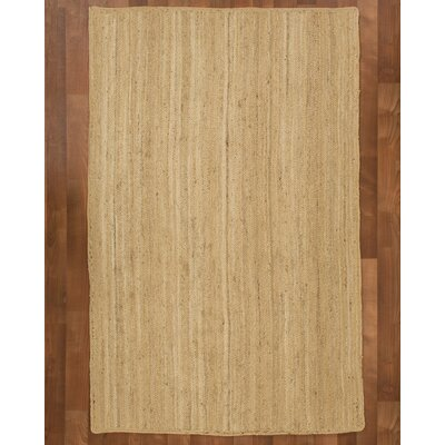 Caracas Jute Natural Area Rug Rug Size: Rectangle 4 x 6
