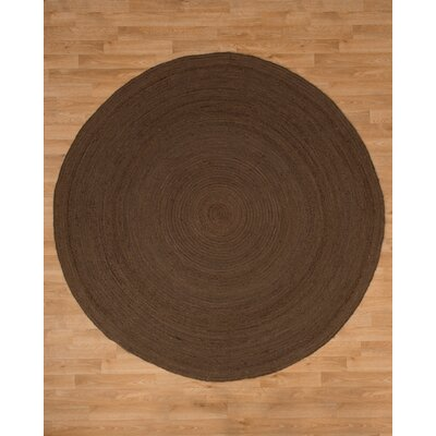 Brooklyn Jute Hand Woven Natural Area Rug Rug Size: Round 6'