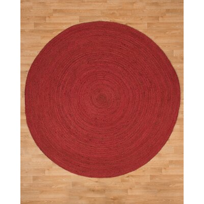Brussels Jute Hand Woven Natural Area Rug Rug Size: Round 8