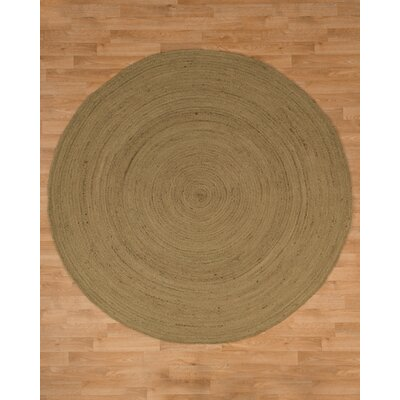 Cancun Jute Hand Woven Natural Area Rug Rug Size: Round 6