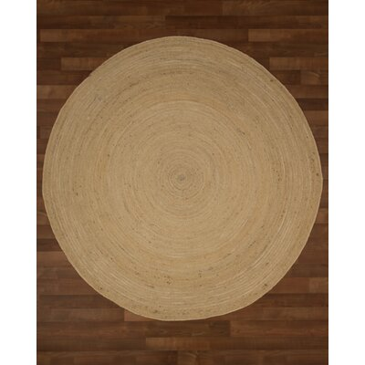 Cairo Jute Hand Woven Natural Area Rug Rug Size: Round 8