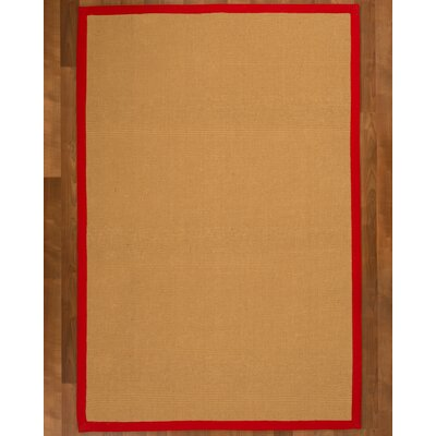 Arcadia Jute Natural Area Rug Rug Size: Rectangle 4 x 6