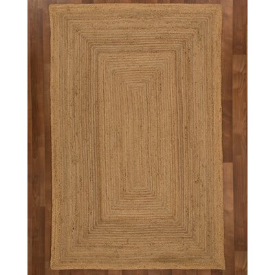 Charlotte Jute Natural Area Rug Rug Size: Rectangle 8 x 10