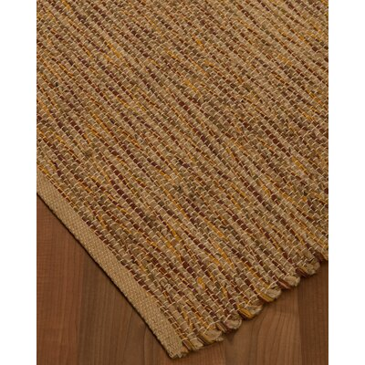Amsterdam Hand-Woven Brown Area Rug Rug Size: Rectangle 4 x 6