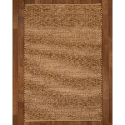 Amsterdam Hand-Woven Brown Area Rug Rug Size: Rectangle 8 x 10