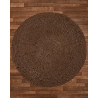 Baltimore Handmade Dark Brown Area Rug Rug Size: Round 6