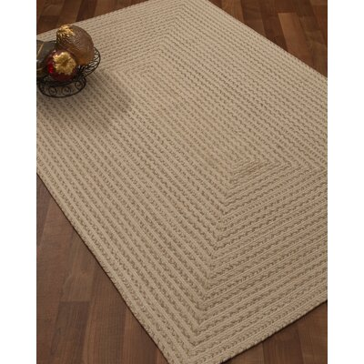 Athen Hand-Loomed Beige Area Rug Rug Size: Rectangle 9 x 12