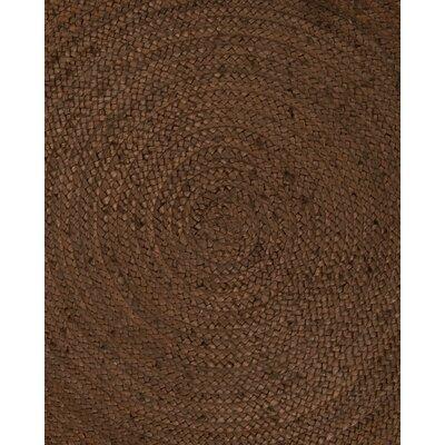 Baltimore Handmade Dark Brown Area Rug Rug Size: Round 8