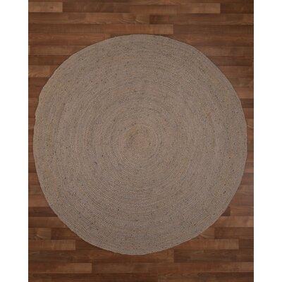 Berlin Handmade Grey Area Rug Rug Size: Round 8