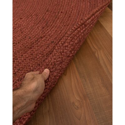 Bonn Handmade Red Area Rug Rug Size: Round 8