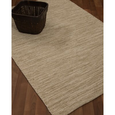 Melbourne Hand-Woven Beige Area Rug Rug Size: 5 x 8