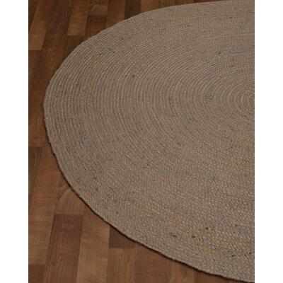 Berlin Handmade Grey Area Rug Rug Size: Round 6