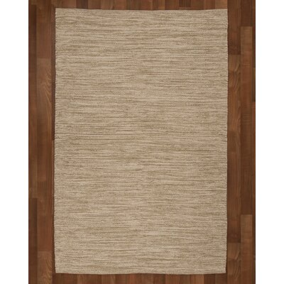 Melbourne Hand-Woven Beige Area Rug Rug Size: 6 x 9
