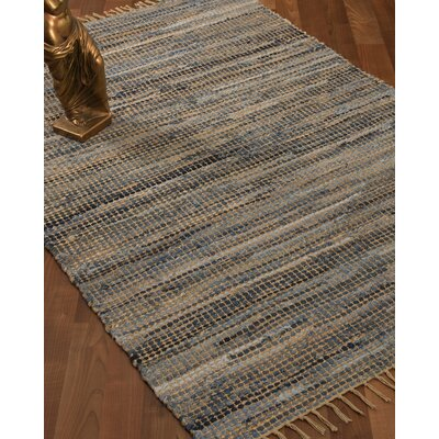 Monaco Hand Loomed Gray Area Rug Rug Size: Rectangle 4 x 6