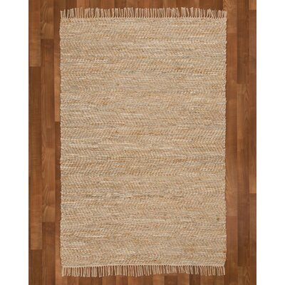 Moreno Hand-Woven Beige Area Rug Rug Size: Rectangle 5 x 8