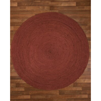Bonn Handmade Red Area Rug Rug Size: Round 6