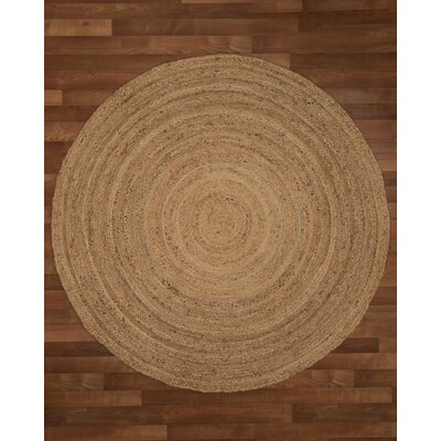 Boston Handmade Brown Area Rug Rug Size: Round 8