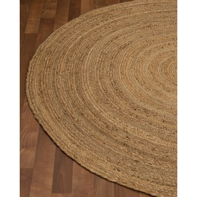 Boston Handmade Brown Area Rug Rug Size: Round 6