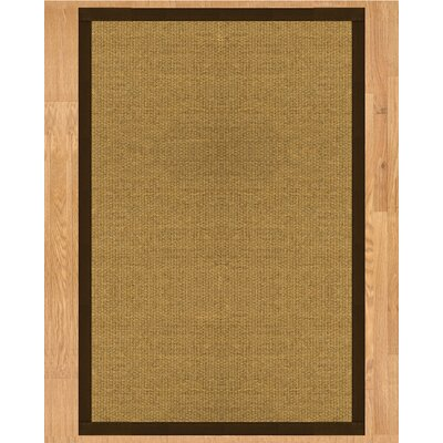 Trellis Hand Crafted Fudge Area Rug Rug Size: Rectangle 4 x 6