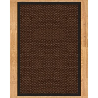 Triton Hand Crafted Black Area Rug Rug Size: 4 x 6
