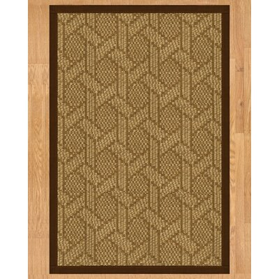 Uptown Hand Crafted Brown Area Rug Rug Size: 2' x 3'