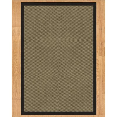 Kansas Hand Crafted Black Area Rug Rug Size: 9 x 12