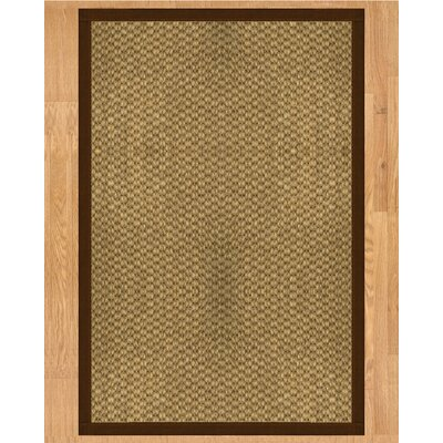 Preston Hand Crafted Brown Area Rug Rug Size: Rectangle 6' x 9'