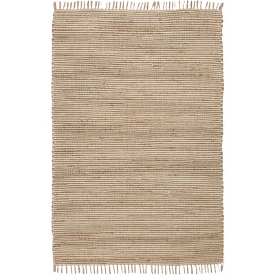 Moscow Hand-Woven Beige Area Rug Rug Size: Rectangle 5 x 8