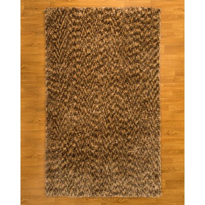 Maldives Hand-Woven Honey Area Rug Rug Size: 5 x 8