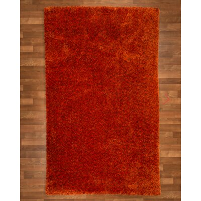 Maldives Hand-Woven Orange Area Rug Rug Size: 5 x 8