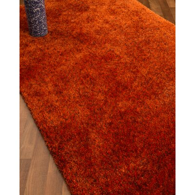 Maldives Hand-Woven Orange Area Rug Rug Size: Rectangle 8 x 10