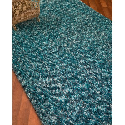 Maldives Hand-Woven Turquoise Area Rug Rug Size: Rectangle 8 x 10
