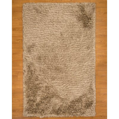 Hand-Tufted Beige Area Rug Rug Size: Rectangle 6 x 9