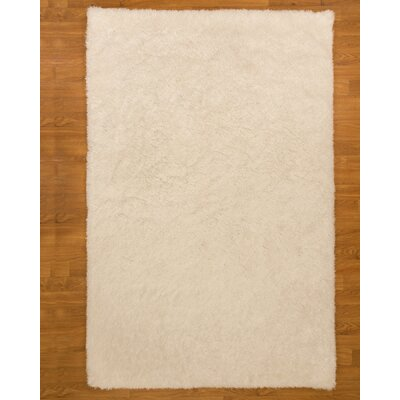 Hand-Tufted White Area Rug Rug Size: 6 x 9
