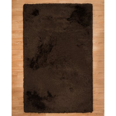 Reagan Shag Hand-Tufted Brown Area Rug Rug Size: Rectangle 5 x 8