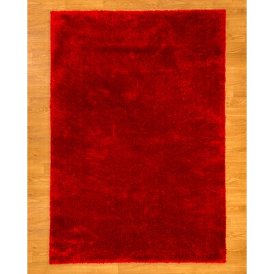 Merida Shag Red Area Rug Rug Size: Rectangle 53 x 76